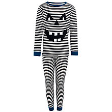 Buy John Lewis Boy Glow in the Dark Stripe Pyjamas, Black/White Online at johnlewis.com