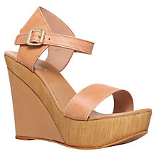 Buy Carvela Knave High Heel Wedge Sandals, Beige Online at johnlewis.com