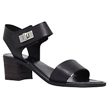 Buy Carvela Kiss Two Strap Sandals, Black Online at johnlewis.com