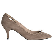 Buy Jigsaw Paddington Suede Court Shoes, Nude Online at johnlewis.com