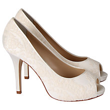 Buy Hassall for Rainbow Elerine Peep Toe Court Heels, Ivory Online at johnlewis.com