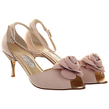 Buy Hassall for Rainbow Sugar Plum Peep Toe Leather Court Shoes, Rose Pink Online at johnlewis.com