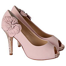 Buy Rainbow Club Apple Blossom Peep Toe Court Leather Heels, Rose Pink Online at johnlewis.com