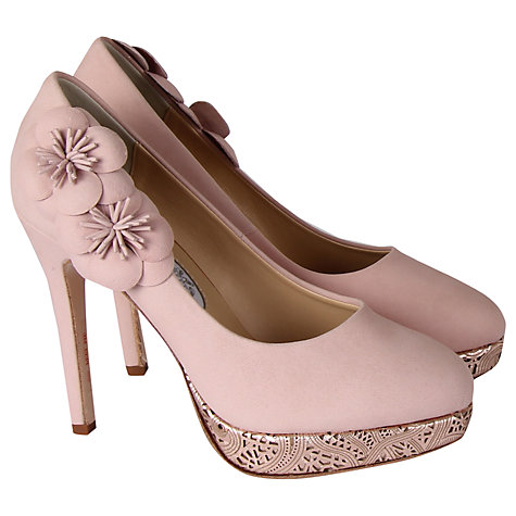 Buy Rainbow Club Cupcake Leather Court Heels, Rose Pink Online at johnlewis.com