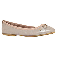 Buy Carvela Languid Leather Ballerinas, Gold Online at johnlewis.com