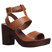 Buy Carvela Kolt High Heel Leather Sandals, Tan Online at johnlewis.com