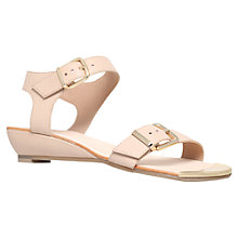 Buy Carvela Kap Leather Wedge Heeled Sandals Online at johnlewis.com