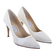 Buy Hassall for Rainbow Georgie Girl Pointed Leather Court Heels, Ivory Online at johnlewis.com