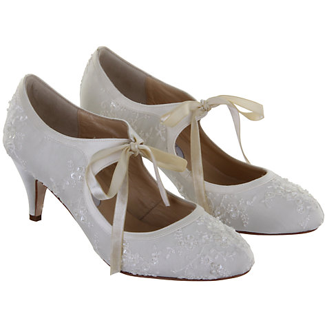 Buy Hassall for Rainbow Miss Alice Mary Jane Heels, Ivory Online at johnlewis.com