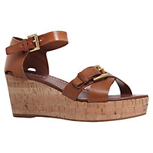 Buy Carvela Knock Wedge Sandals, Tan Online at johnlewis.com