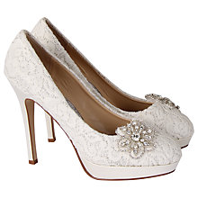 Buy Rainbow Club Starry Eyed Embellished Ivory Court Heels, Ivory Online at johnlewis.com