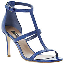Buy Dune Black Hattie Leather Strappy Sandals Online at johnlewis.com