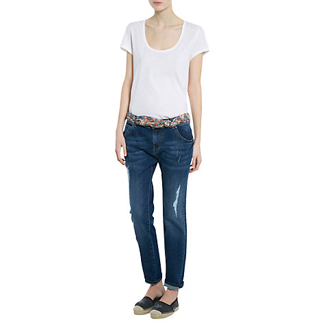Buy Mango Boyfriend Fit Giselle Jeans, Navy Online at johnlewis.com