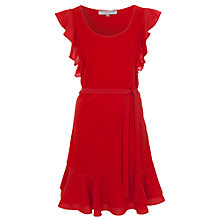 Buy French Connection Penny Plains Fluted Sleeve Dress Online at johnlewis.com