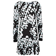 Buy French Connection Open Palette Dress, Black/Bakelite Blue Online at johnlewis.com
