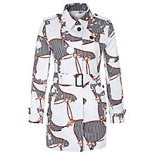 Buy Aquascutum Heritage Floral Trench Coat, White Floral Online at johnlewis.com
