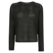 Buy Mango Stripe Texture T-Shirt Online at johnlewis.com
