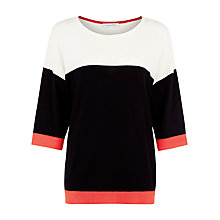 Buy Windsmoor Colour Block Jumper, Black Online at johnlewis.com