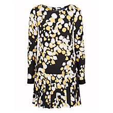 Buy French Connection Open Palette Dress, Black/Citronella Online at johnlewis.com