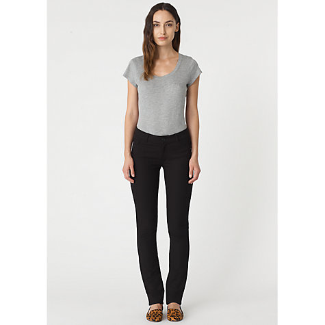 Buy Jigsaw Classic Fit Bi-Stretch Jeans, Dark Blue Online at johnlewis.com