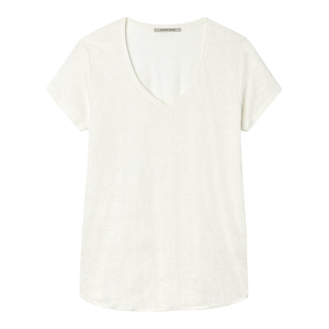 Buy Gérard Darel Linen T-Shirt, White Online at johnlewis.com