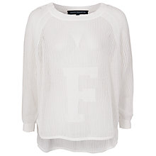 Buy French Connection Pintelle Knits Jumper, Winter White Online at johnlewis.com