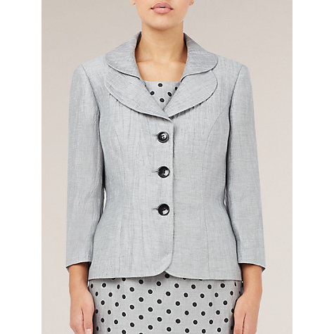 Buy Precis Petite Crinkle Jacket, Grey Online at johnlewis.com