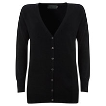 Buy Mint Velvet Boyfriend Cardigan Cloned, Black Online at johnlewis.com
