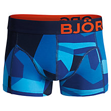 Buy Björn Borg Camoflash Trunks, Victoria Blue Online at johnlewis.com