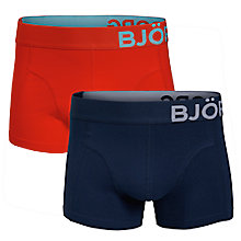 Buy Bjorn Borg Single Big Logo Trunks, Pack Of 2, Denim/Red Online at johnlewis.com