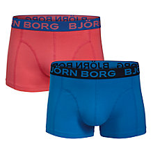 Buy Bjorn Borg Seasonal Solid Trunks, Pack of 2, Pink/Blue Online at johnlewis.com