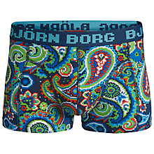Buy Bjorn Borg 8-Bit Paisley Trunks, Pack of 2, Dark Denim Online at johnlewis.com
