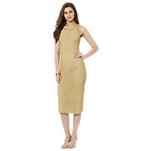 Buy Lauren Ralph Lauren Lamiana Metallic Dress, Gold Online at johnlewis.com