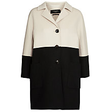 Buy Weekend by MaxMara Pace Coat, Beige/Black Online at johnlewis.com