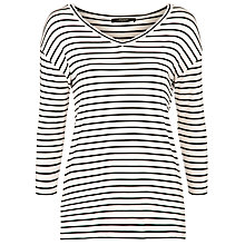 Buy Weekend by MaxMara Striped Kali Top, Milk Online at johnlewis.com