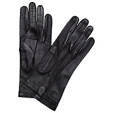 Buy Somerset by Alice Temperley Hand Stitch Gloves, Black Online at johnlewis.com