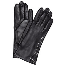Buy John Lewis Somerset Studded Leather Gloves, Black Online at johnlewis.com