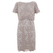 Buy Mint Velvet Lace Double Layer Dress, Pale Pink Online at johnlewis.com