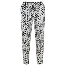 Buy Mint Velvet Stefa Print Cotton Capri Trousers, White Online at johnlewis.com