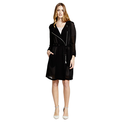 Buy Mint Velvet Georgette Zip Trench Coat Online at johnlewis.com
