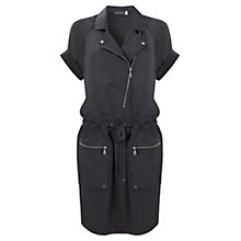 Buy Mint Velvet Satin Biker Dress Online at johnlewis.com