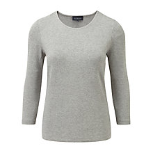 Buy Viyella 3/4 Sleeve Marl Top, Silver Online at johnlewis.com