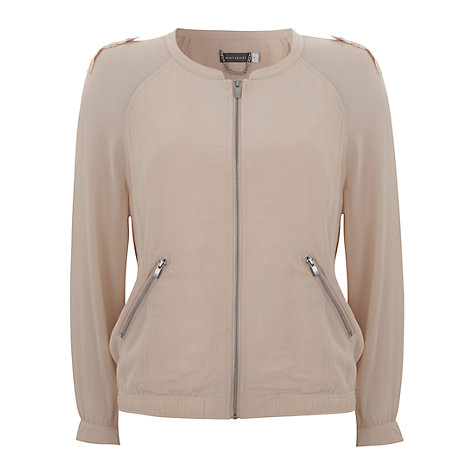 Buy Mint Velvet Georgette Bomber Jacket Online at johnlewis.com