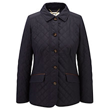 Buy Viyella Leather Trim Riding Jacket, Navy Online at johnlewis.com
