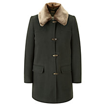 Buy Viyella Fur Collar Cashmere Coat, Green Online at johnlewis.com