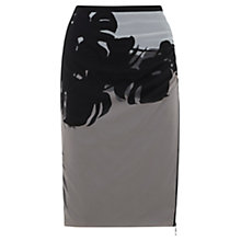 Buy Mint Velvet Paige Print Silk Blend Pencil Skirt, Multi Online at johnlewis.com