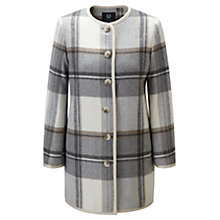Buy Viyella Checked Coat, Ivory Online at johnlewis.com