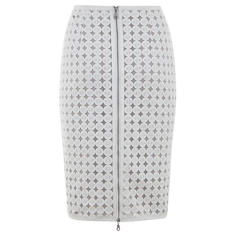 Buy Mint Velvet Circle Lace Pencil Skirt Online at johnlewis.com