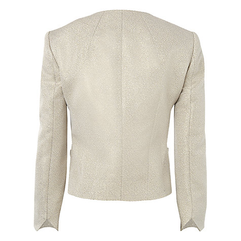 Buy L.K. Bennett Lagos Lurex Jacquard Jacket, Soft Gold Online at johnlewis.com