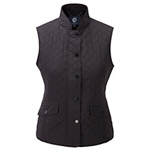 Buy Viyella Quilted Gilet, Black Online at johnlewis.com